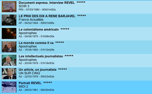 Page 2 des archives INA sur Revel